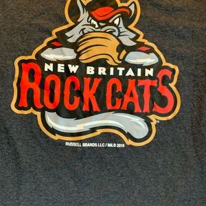 New Britain Rock Cats t shirt baseball MILB ROCKY